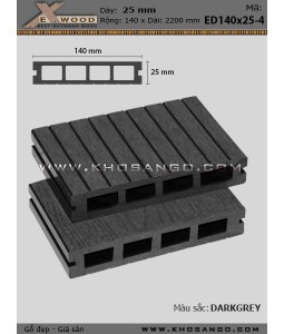 Sàn gỗ Exwood ED140x25-4-darkgrey