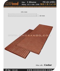 Gỗ nhựa Awood SD151x10-cedar