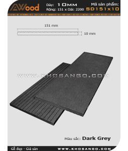 Gỗ nhựa Awood SD151x10-darkgrey