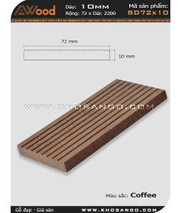 Gỗ nhựa Awood SD72x10-coffee
