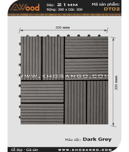 Vĩ gỗ lót sàn Awood DT02_xám