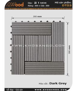 Vĩ gỗ lót sàn Awood DT03_xám