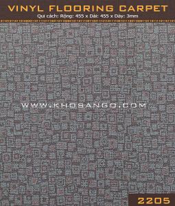 Sàn nhựa vân thảm 2205
