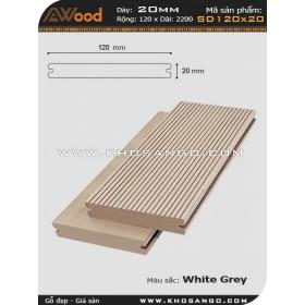 Awood Decking SD120x20-whitegrey